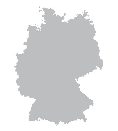 grey map of Germany Illustration
