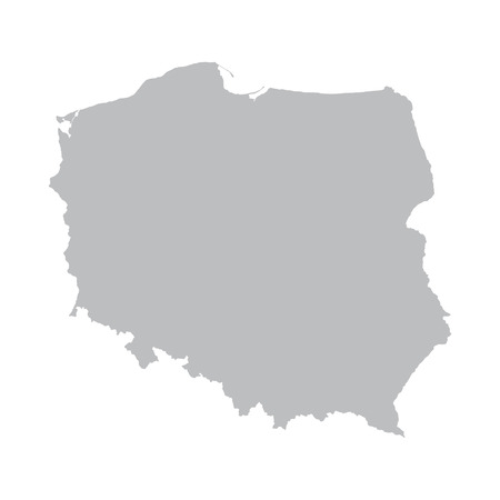 cracow: grey map of Poland