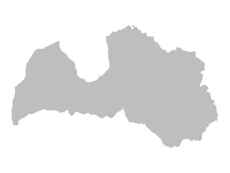 latvia: grey map of Latvia