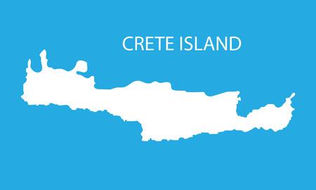 white map of Crete Illustration