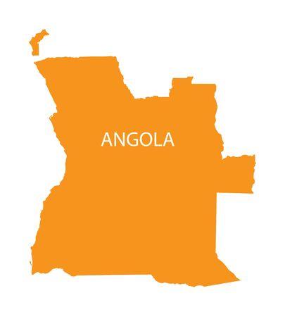 map of angola: orange map of Angola