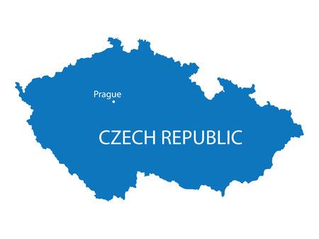 the czech republic: blue map of Czech Republic Illustration