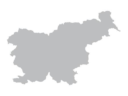 スロベニアの灰色の地図