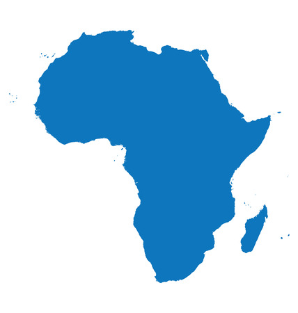 blue map of Africa Ilustrace