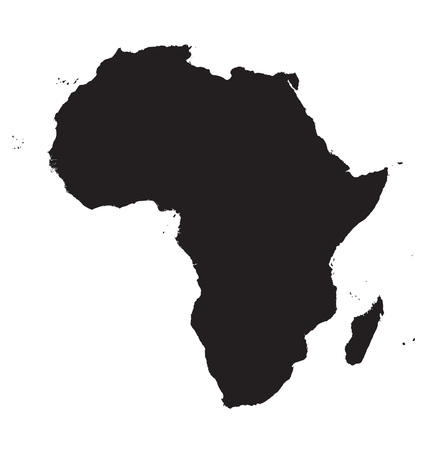 south africa map: black map of Africa