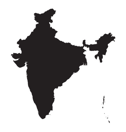 map of india: black map of India