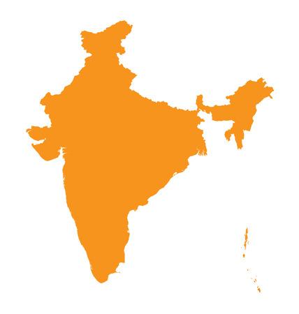 carte orange, de l'Inde