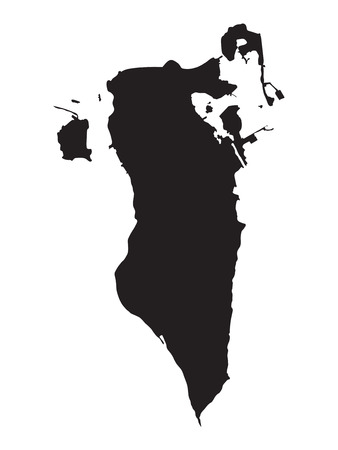 black map of Bahrain Vector