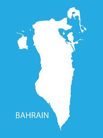bahrain: white map of Bahrain