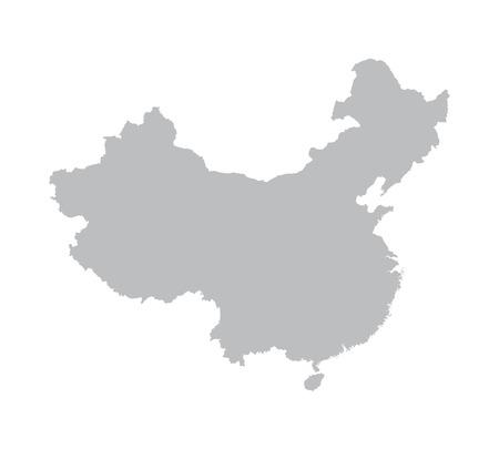 mapa china: mapa gris de China