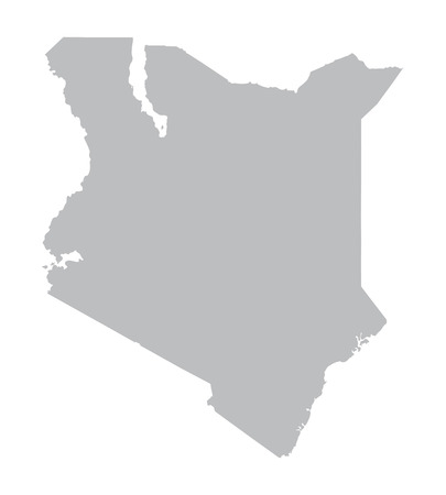 grey map of Kenya Vector