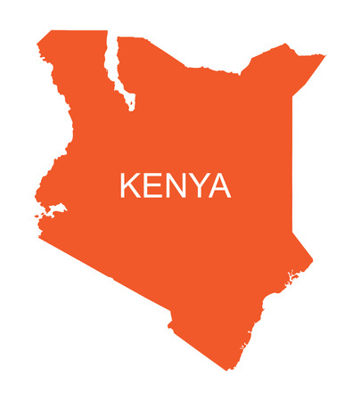 orange map of Kenya Vector