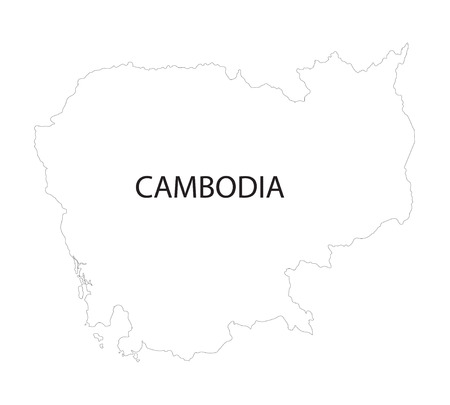 outline of Cambodia map Vector