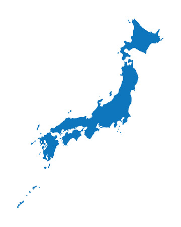 blue map of Japan 矢量图像