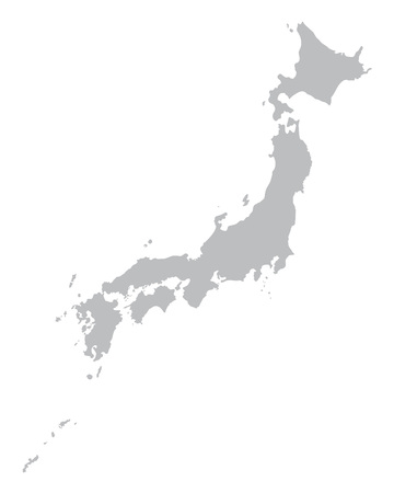honshu: grey map of Japan