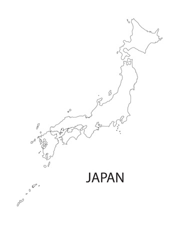 outline of Japan map