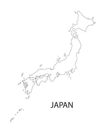 Aperçu de la carte du Japon Banque d'images - 36861740