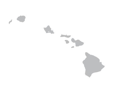 carte grise d'Hawaï Illustration