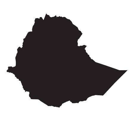 black map of Ethiopia