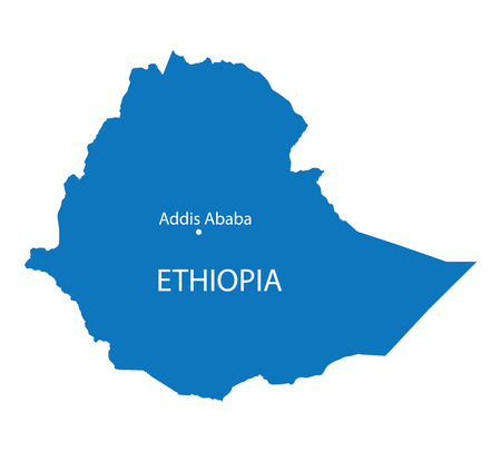 blue map of Ethiopia
