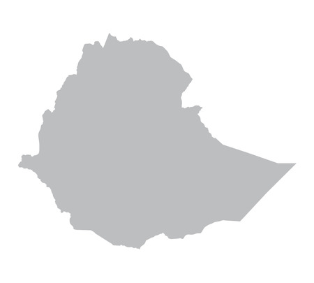 grey map of Ethiopia