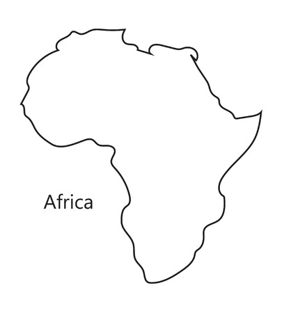 black  abstract map of Africa