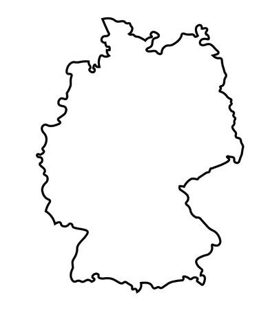 zwarte abstracte kaart van Duitsland