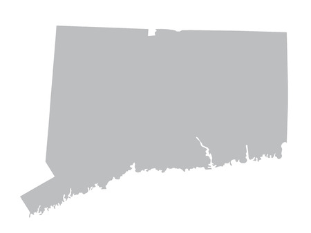 territorial: grey map of Connecticut Illustration