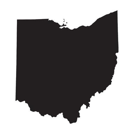 Schwarze Karte von Ohio Standard-Bild - 37229152