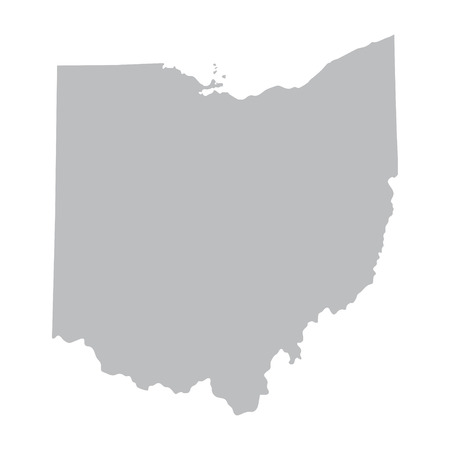 carte grise de l'Ohio Banque d'images - 37229156