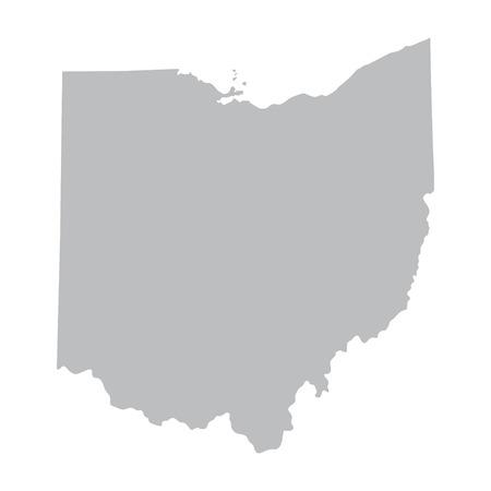 grijze kaart van Ohio