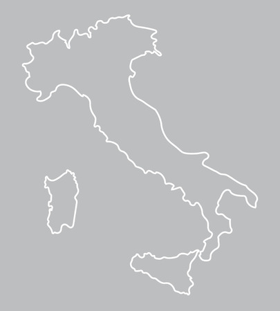 naples: abstract outline of map of Italy Illustration