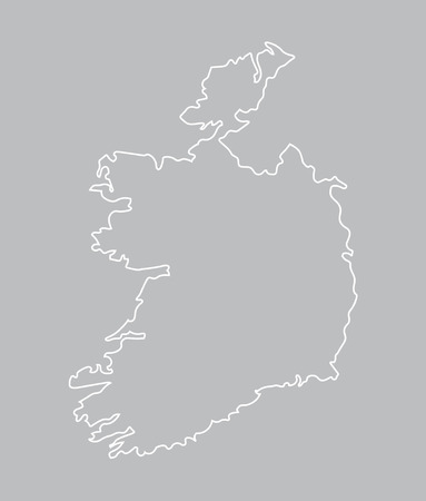 belfast: abstract map of Ireland