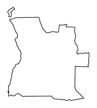 angola: black abstract map of Angola