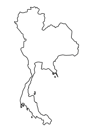abstract outline of Thailand map
