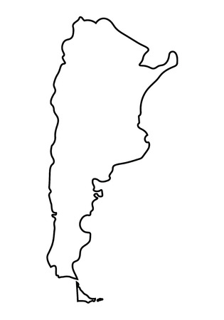 argentina map: abstract black outline of Argentina map