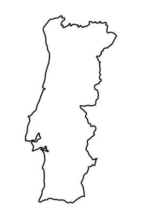 carte abstraite du Portugal Illustration
