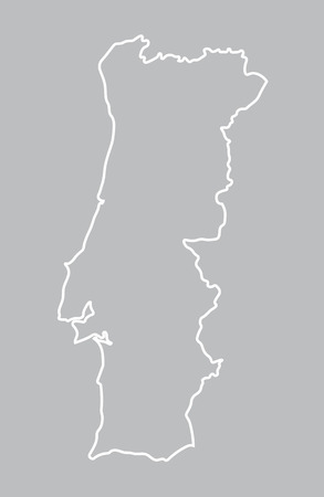 abstract map of Portugal