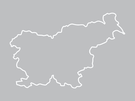 abstract map of Slovenia