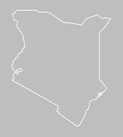 abstract outline of Kenya map Vector
