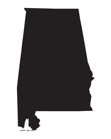 alabama: black map od Alabama