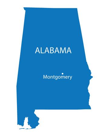 od: blue map od Alabama