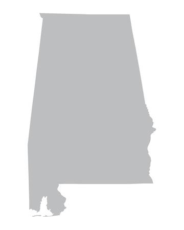 od: grey map od Alabama