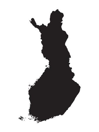schwarze Karte von Finnland