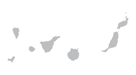 grey map of Canary Islands Illustration