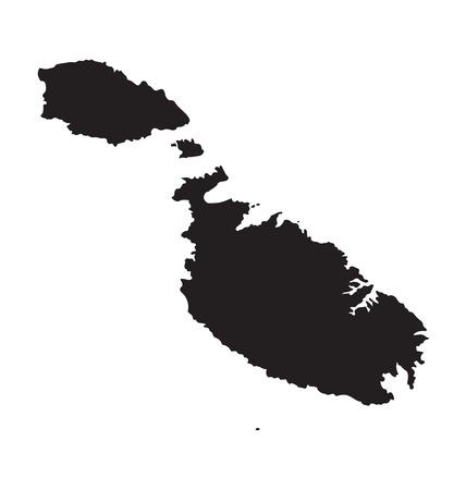 マルタのマップを黒