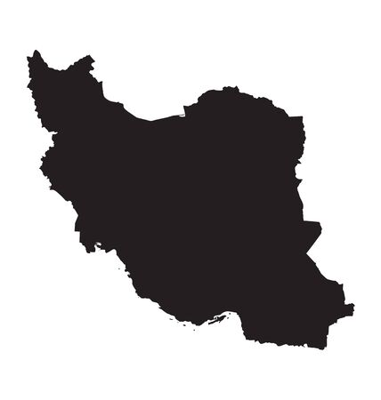 iran: black map of Iran Illustration