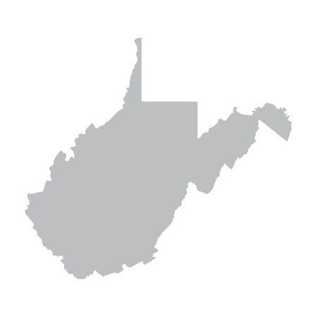 virginia: Grey map of West Virginia