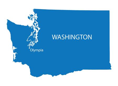 Bleu plan de Washington avec l'indication de l'Olympia