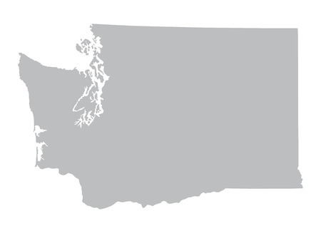 grey map of Washington